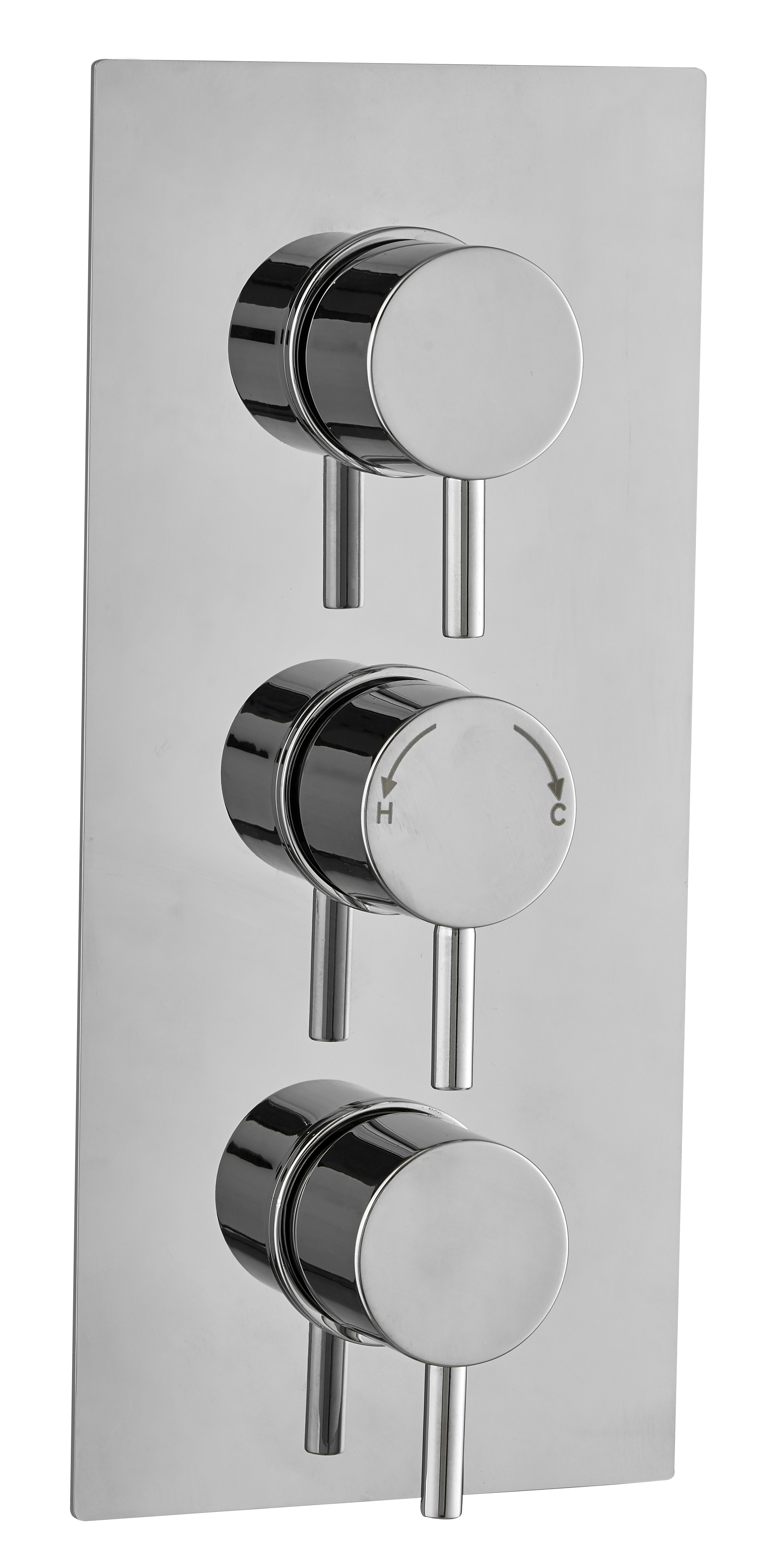 Image Is Loading Round Concealed Thermostatic Shower Mixer Valve 3 Handle