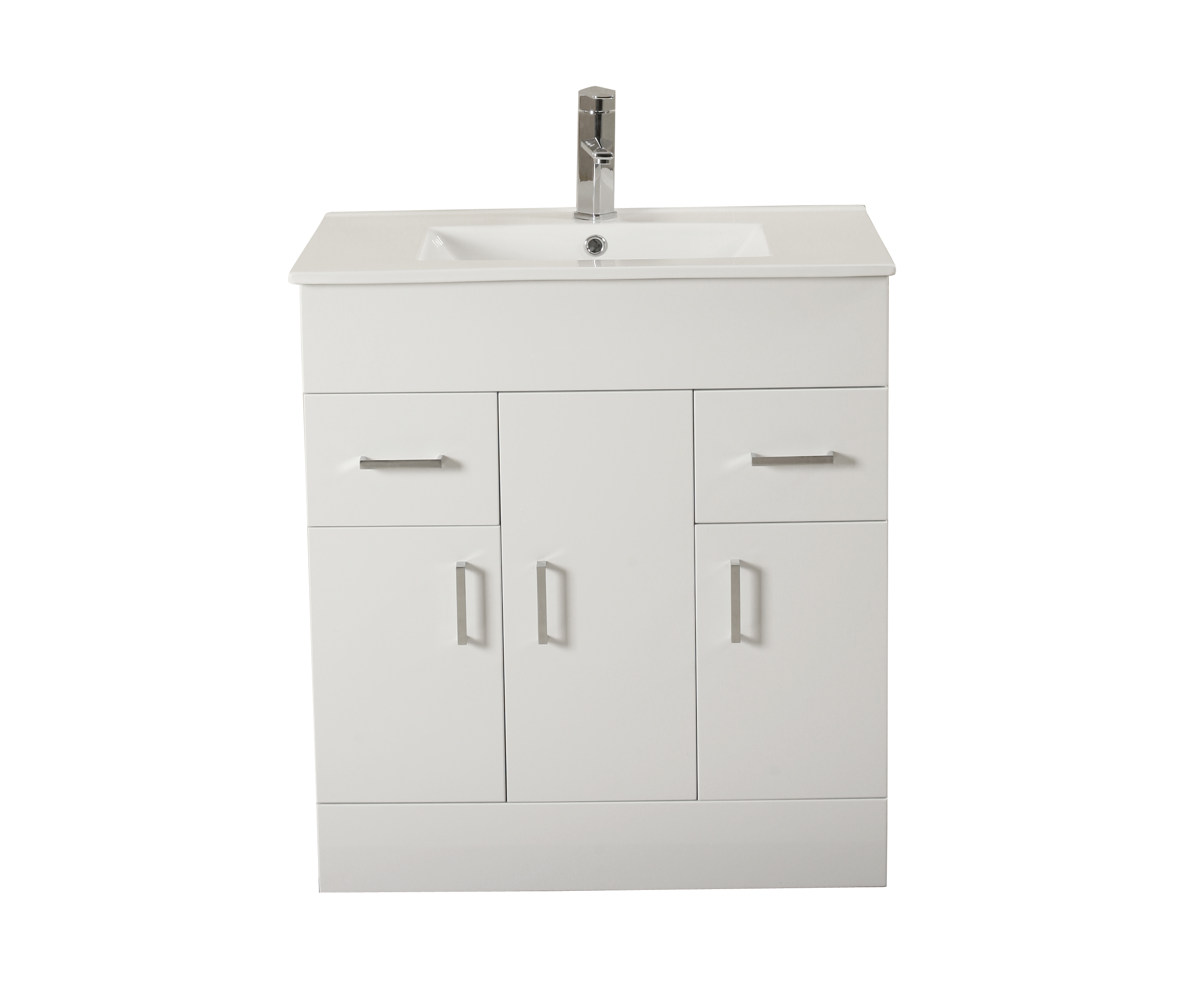 800mm Square Modern Turin Vanity Unit Ceramic Basin Sink